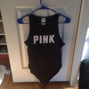 Pink Victoria's Secret body suit